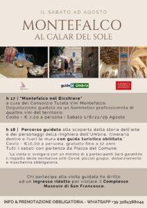 """Ogni sabato del mese di Agosto vi proponiamo """"Montefalco al Calar del Sole"""": un pomeriggio alla scoperta dei tesori di Montefalco."""